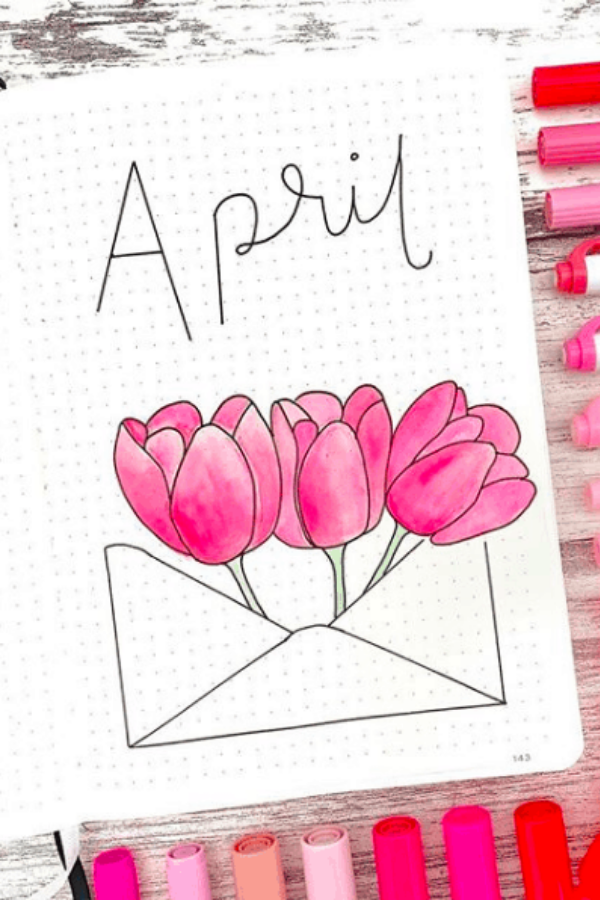 April bullet journal cover ideas